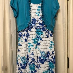 Other - Kids plus size blue and pink dresses